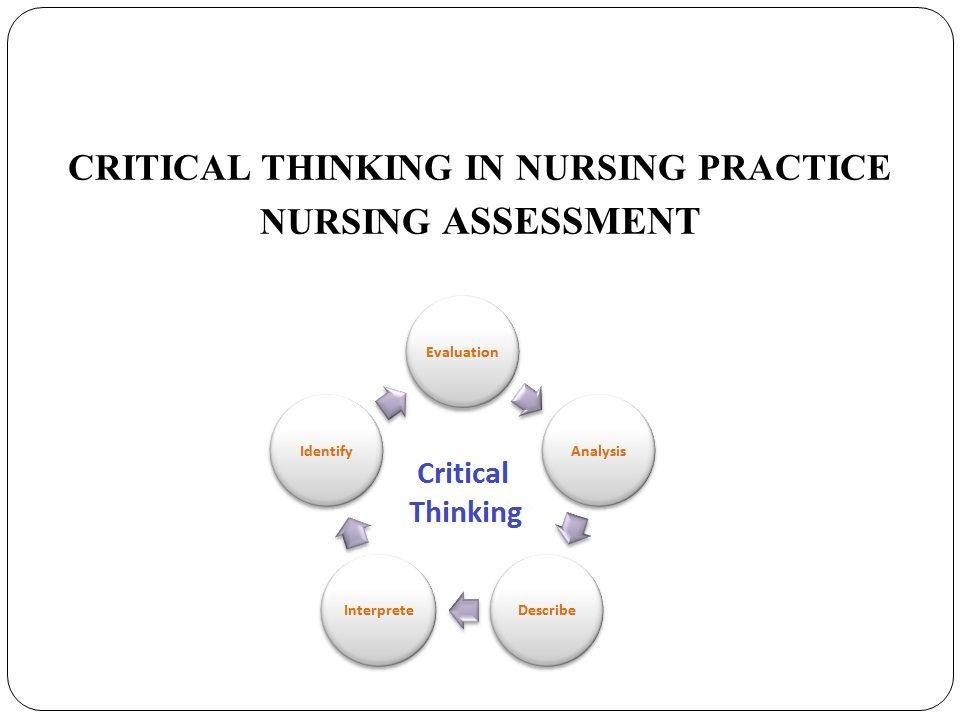 critical thinking articles nursing Critical thinking and nursing in nursing, critical thinking for clinical decision-making is the ability to think in a systematic and logical manner with.