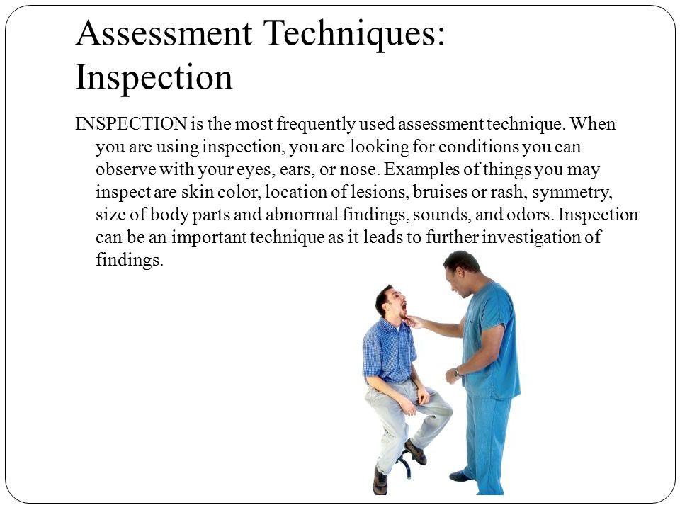 Assessment Techniques: Inspection