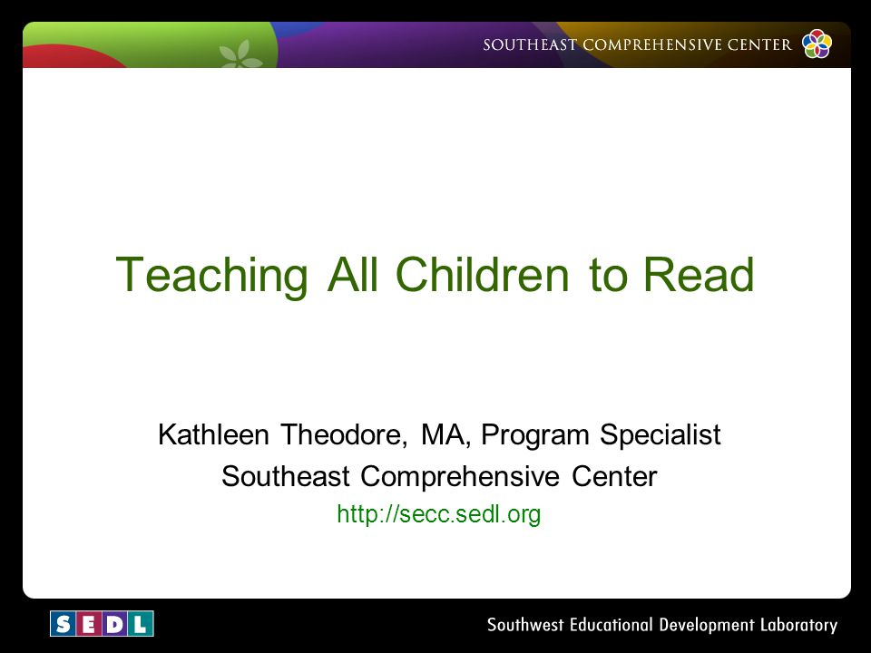Teaching All Children to Read
