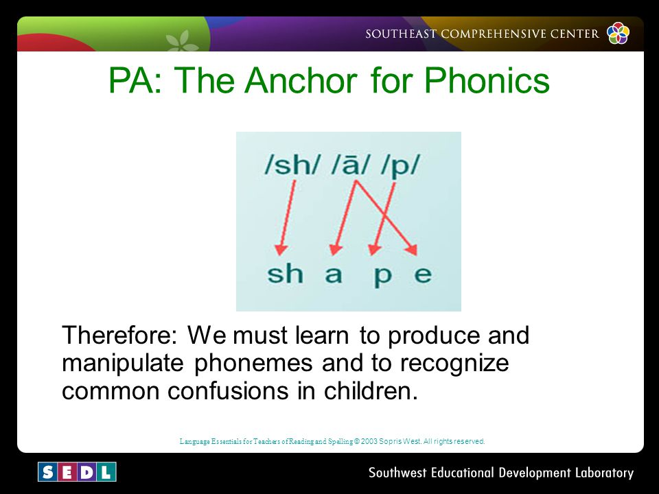 PA: The Anchor for Phonics