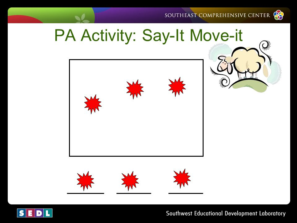 PA Activity: Say-It Move-it
