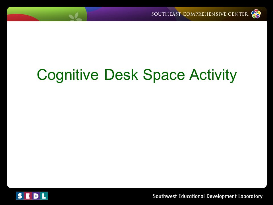 Cognitive Desk Space Activity