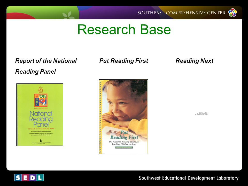 Research Base Report of the National Put Reading First Reading Next