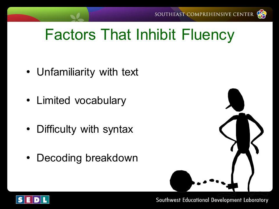 Factors That Inhibit Fluency