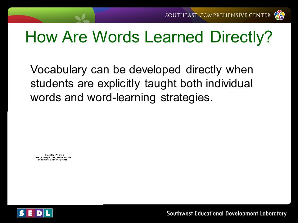 How Are Words Learned Directly