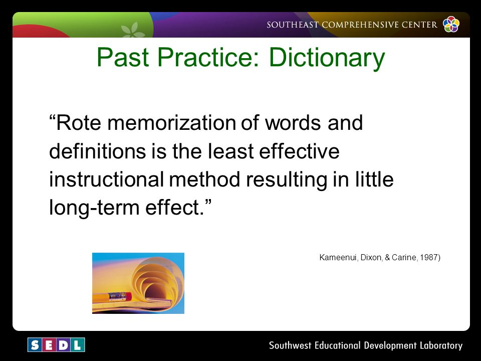 Past Practice: Dictionary