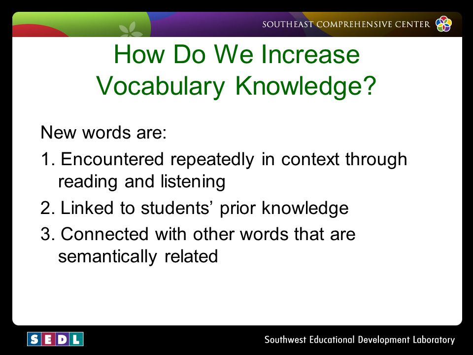 How Do We Increase Vocabulary Knowledge