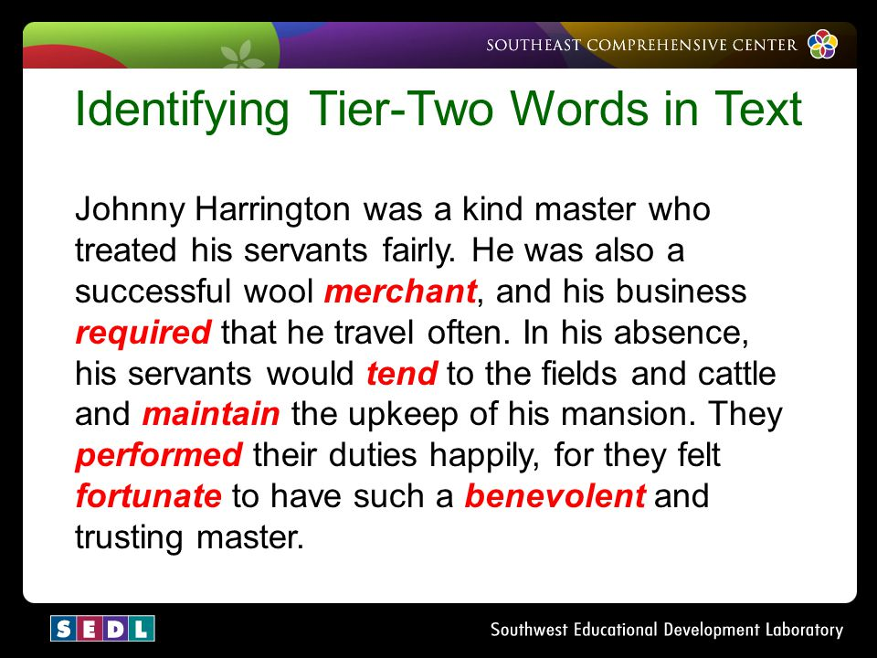 Identifying Tier-Two Words in Text
