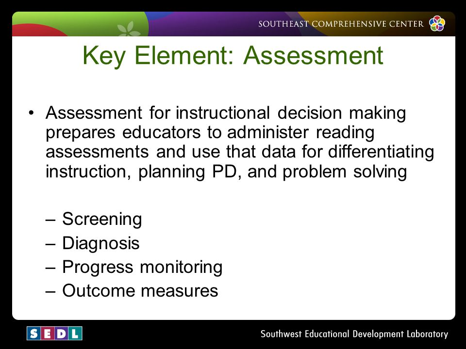 Key Element: Assessment