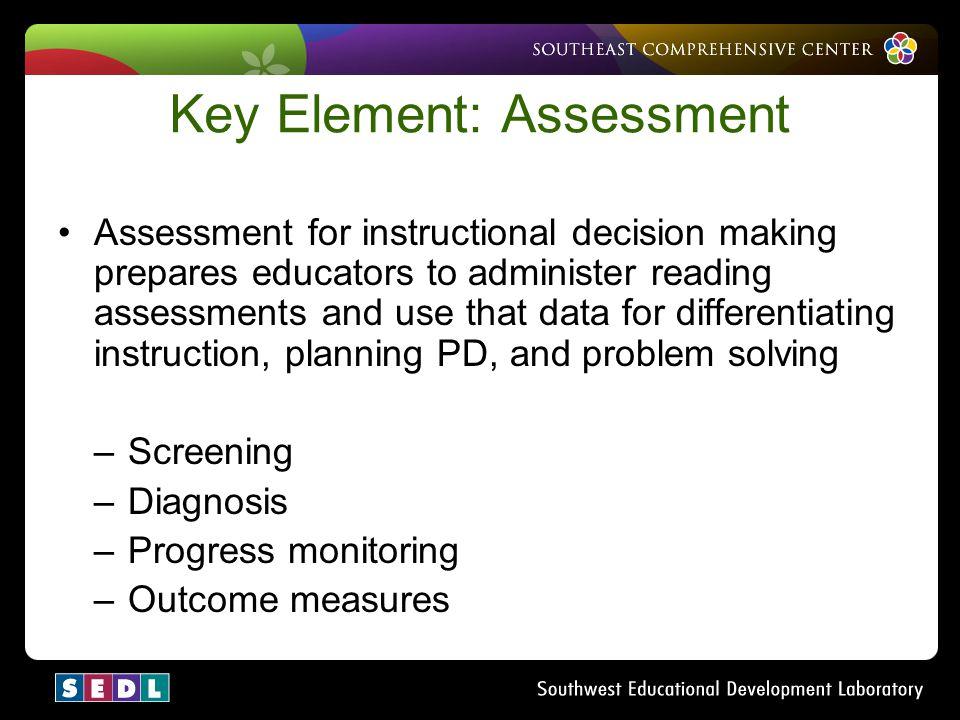 Key Element: Assessment