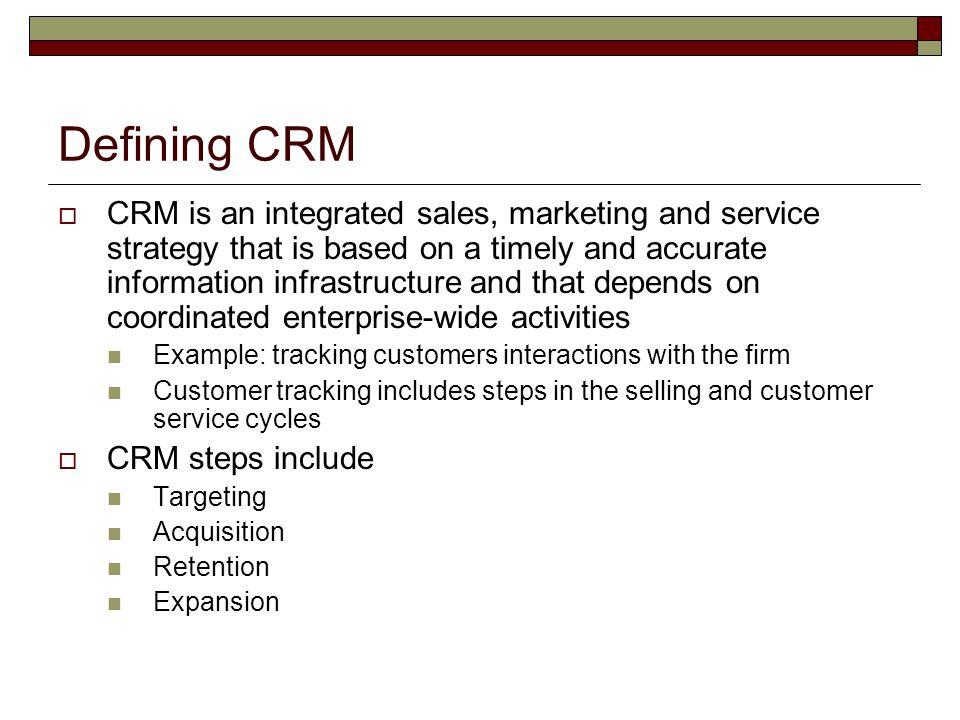Defining CRM