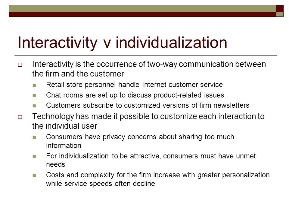 Interactivity v individualization