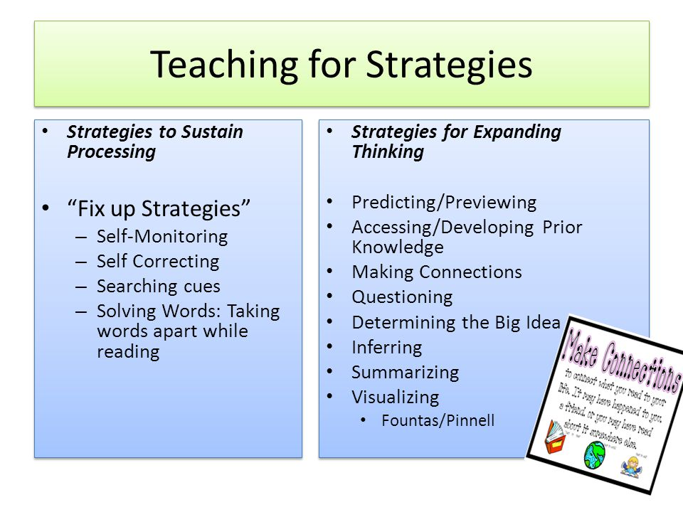 Teaching for Strategies