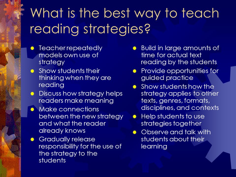 What is the best way to teach reading strategies