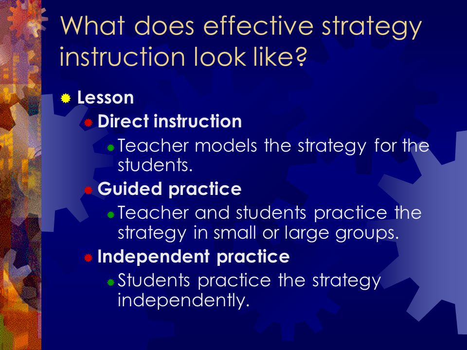 What does effective strategy instruction look like