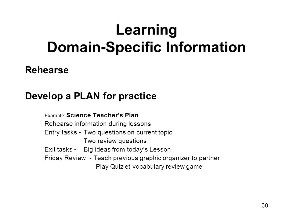 Learning Domain-Specific Information