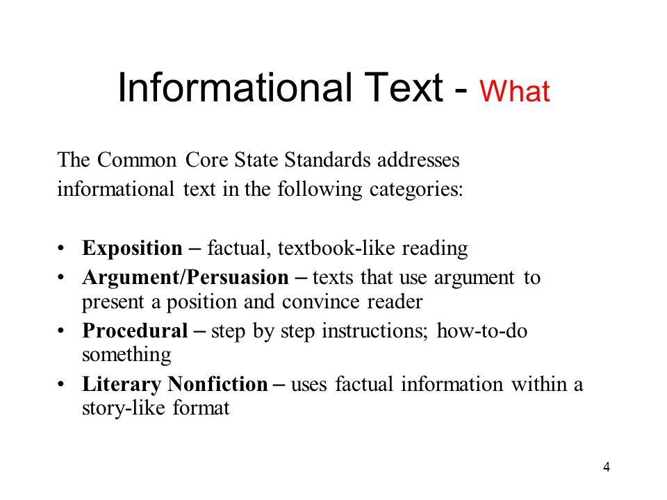 Informational Text - What