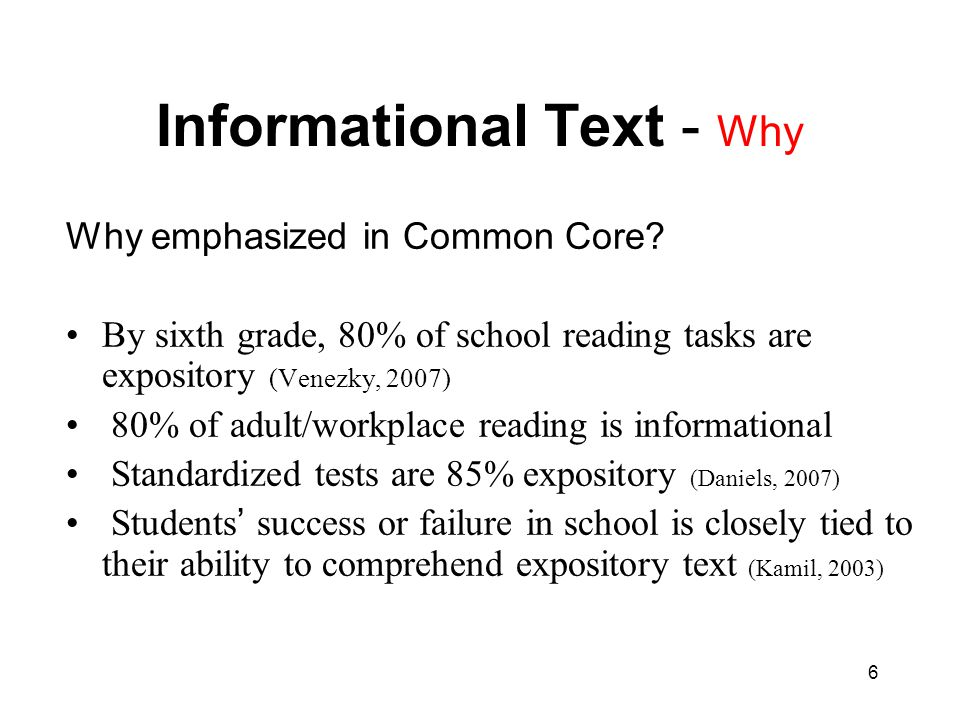 Informational Text - Why