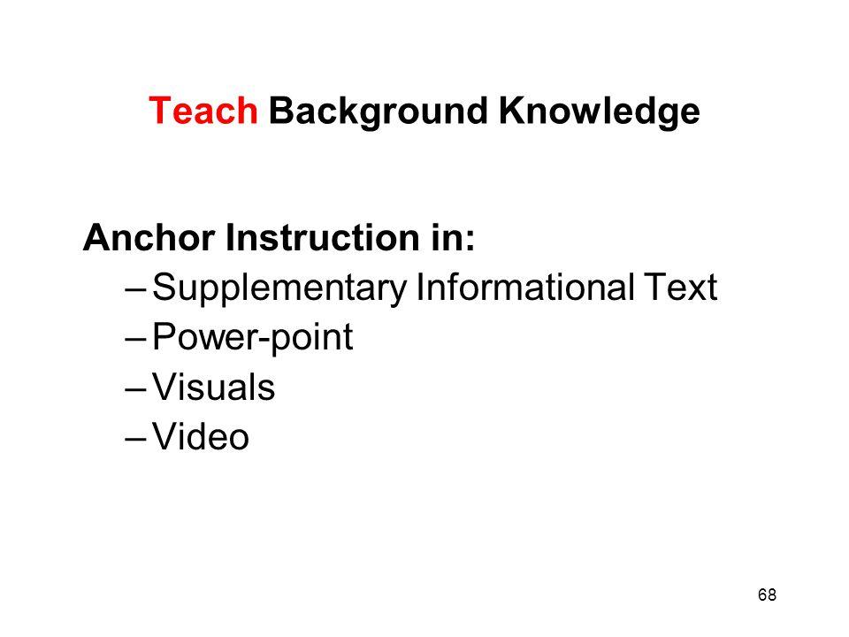 Teach Background Knowledge