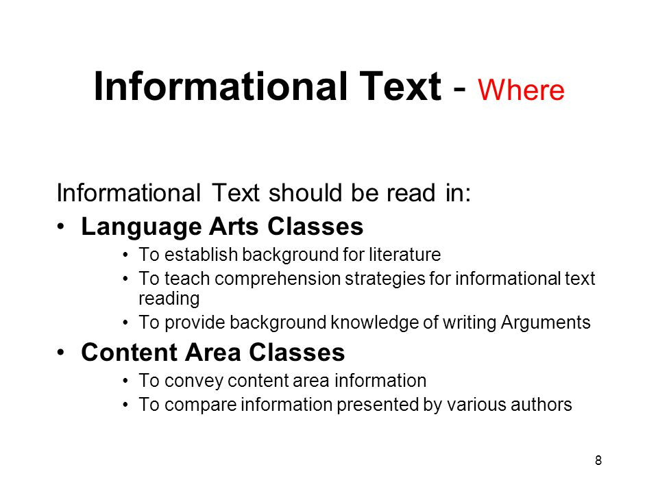 Informational Text - Where