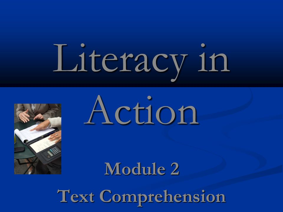 Module 2 Text Comprehension
