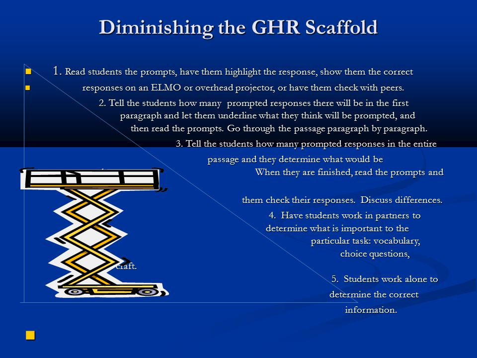 Diminishing the GHR Scaffold