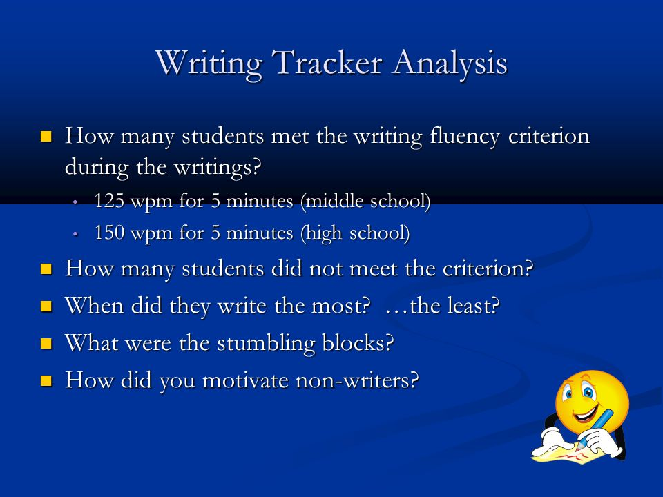 Writing Tracker Analysis