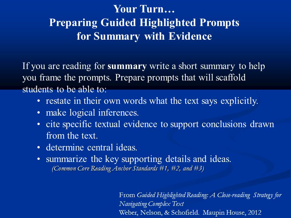 Preparing Guided Highlighted Prompts for Summary with Evidence