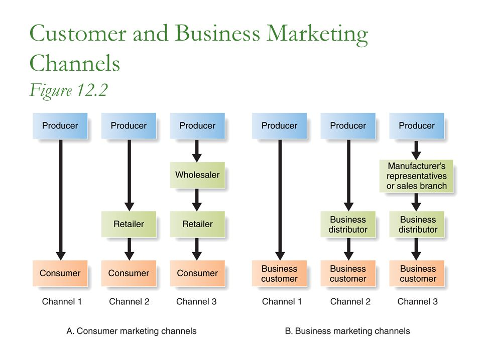 Customer and Business Marketing Channels Figure 12.2