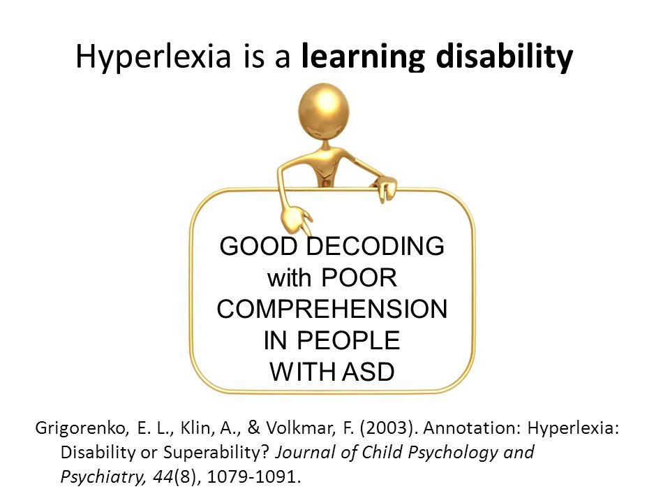 understanding hyperlexia assessment and remedy