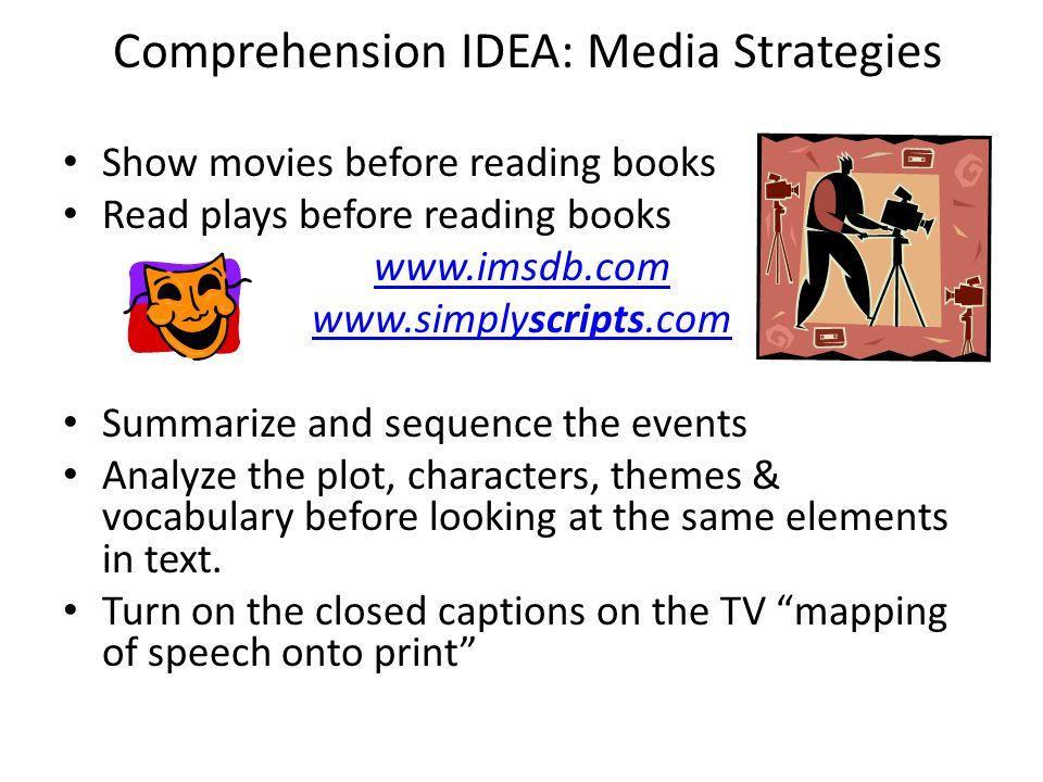 Comprehension IDEA: Media Strategies