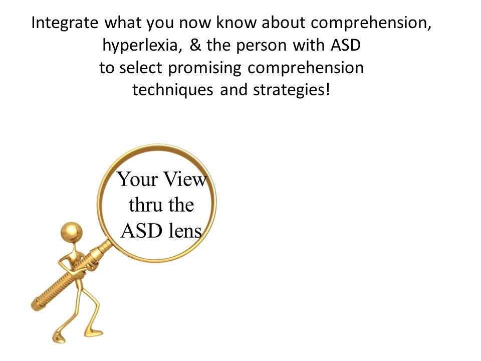 Your View thru the ASD lens