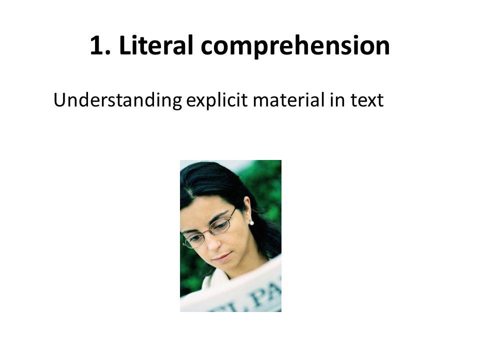 1. Literal comprehension