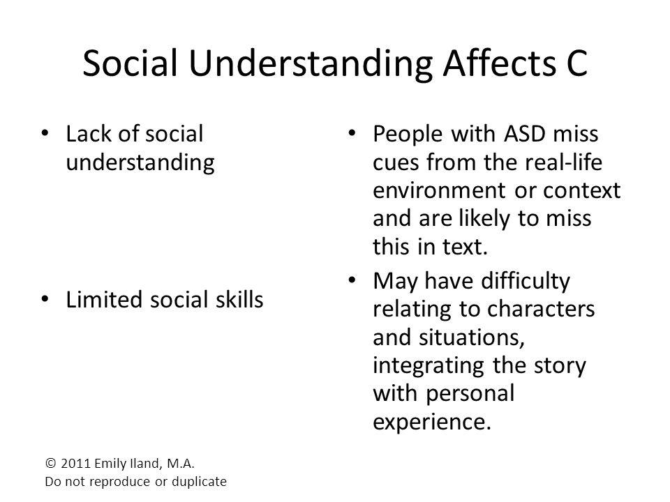 Social Understanding Affects C