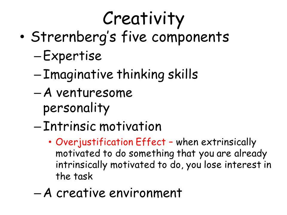 Creativity Strernberg's five components Expertise