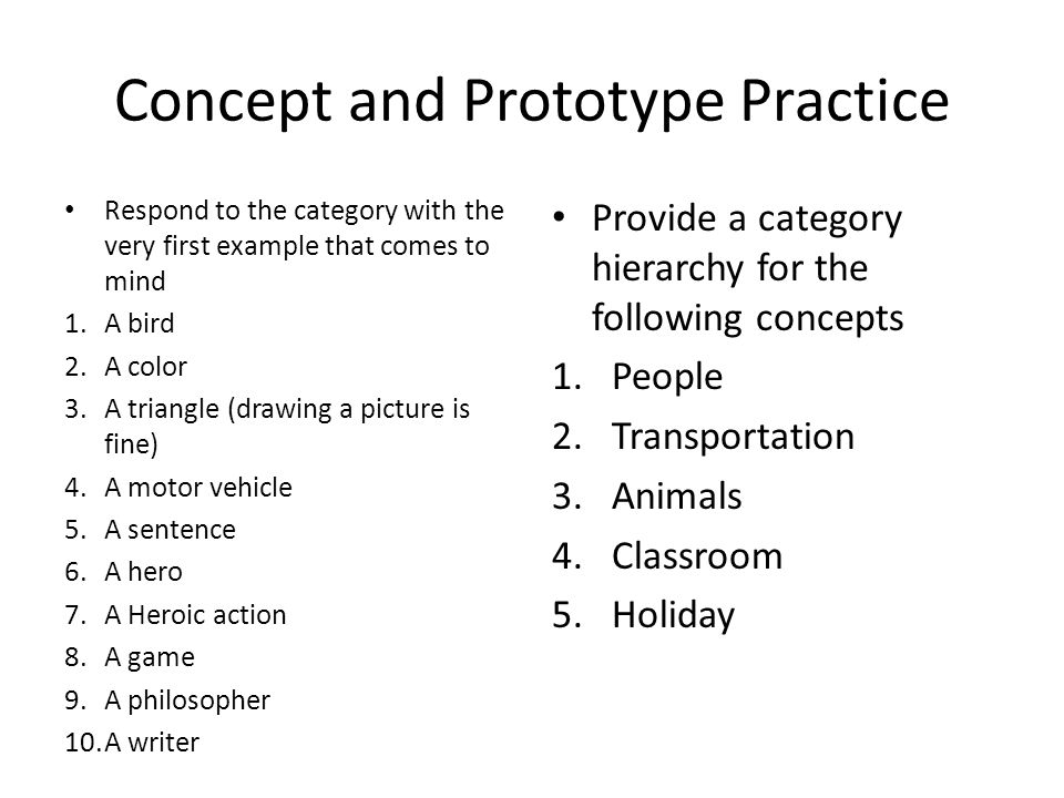Concept and Prototype Practice