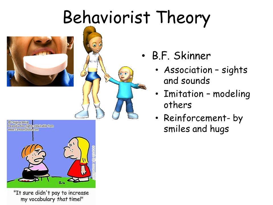 Behaviorist Theory B.F. Skinner Association – sights and sounds