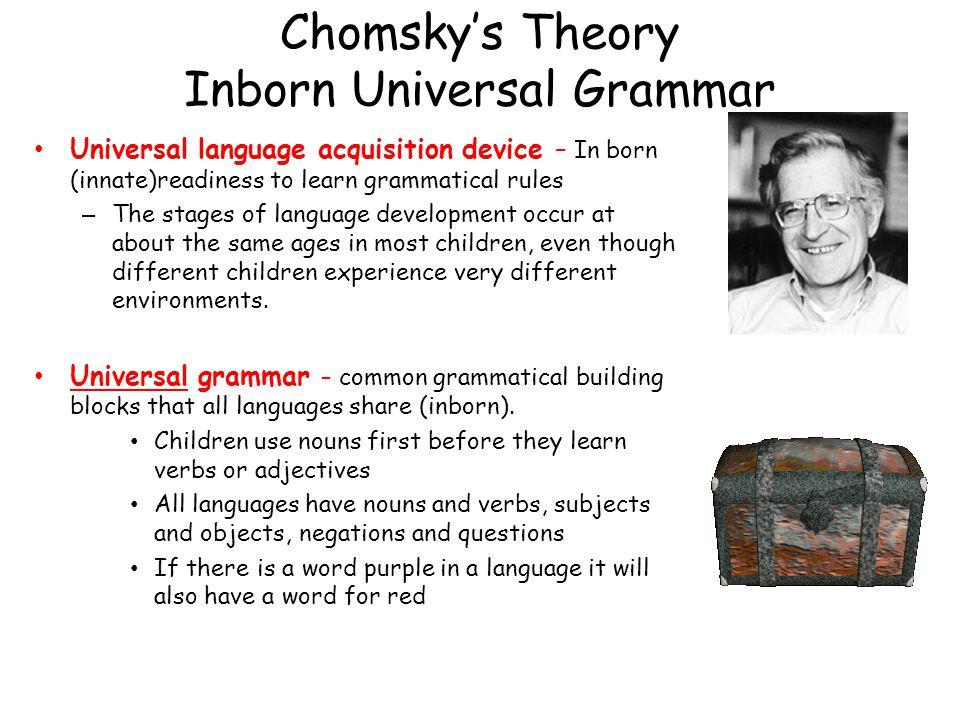 Chomsky's Theory Inborn Universal Grammar