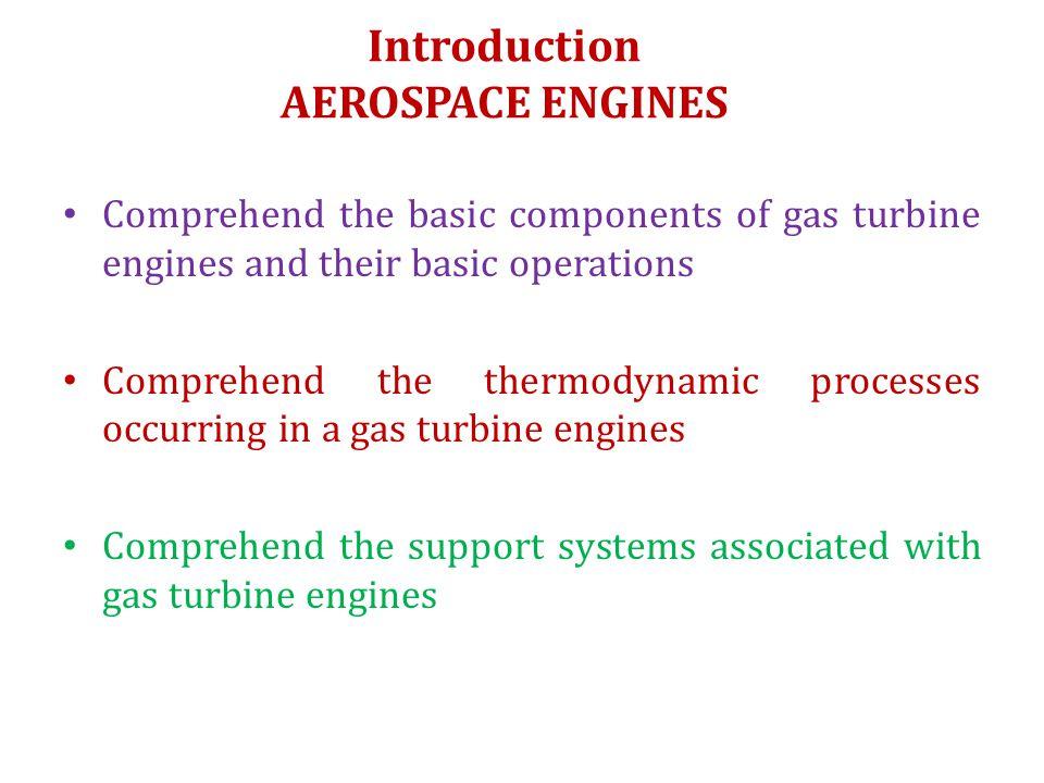 Introduction AEROSPACE ENGINES