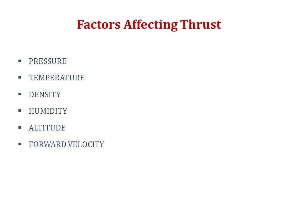 Factors Affecting Thrust