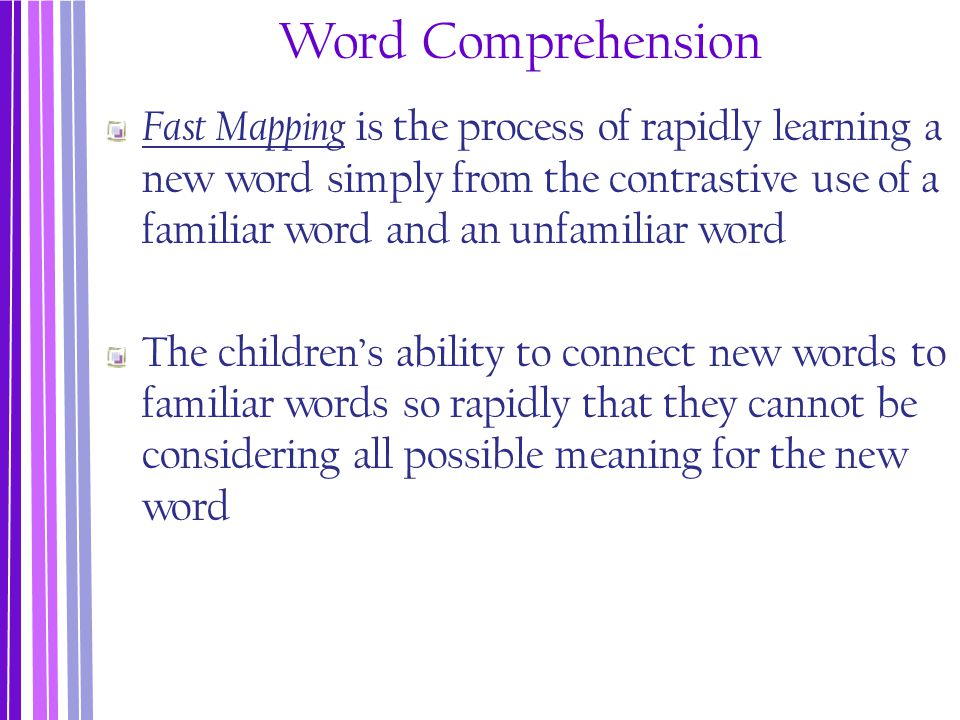 Word Comprehension