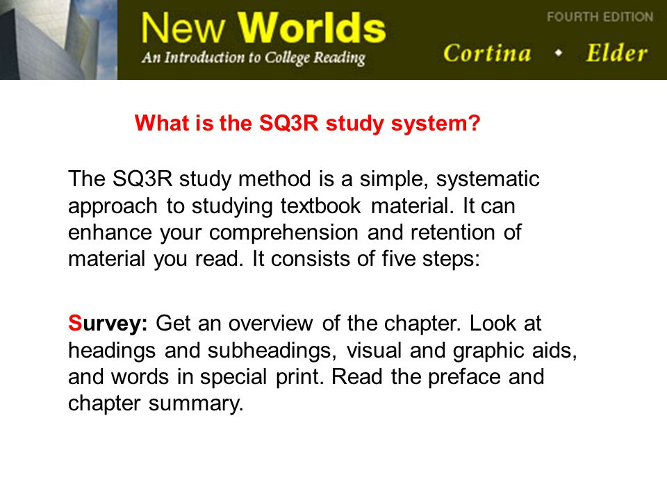 What is the SQ3R study system
