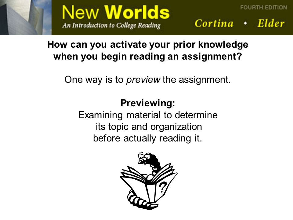 How can you activate your prior knowledge