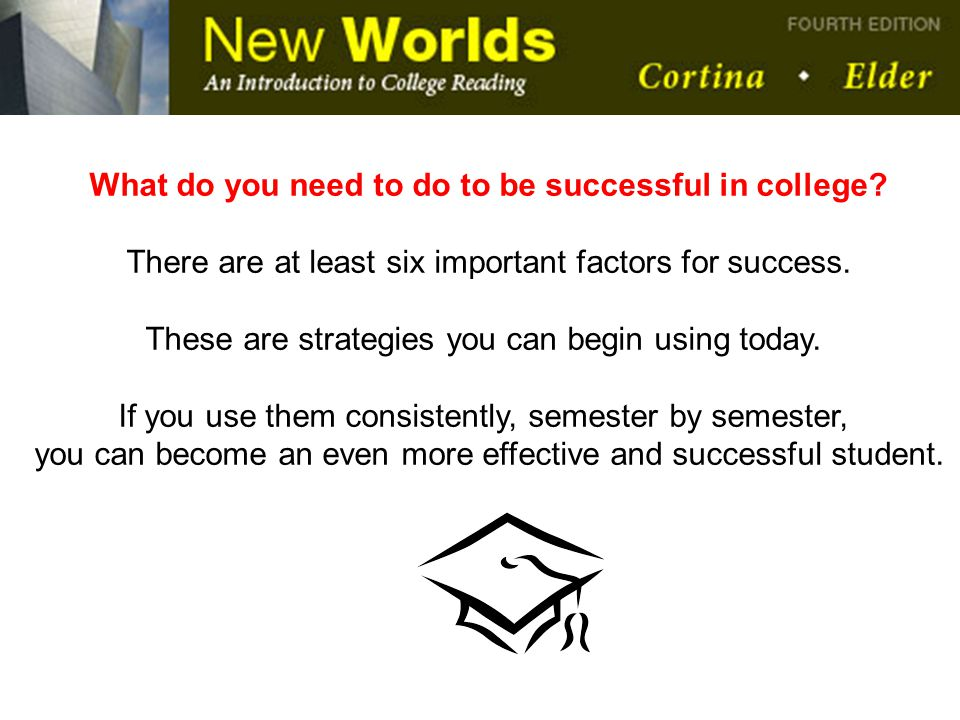 What do you need to do to be successful in college
