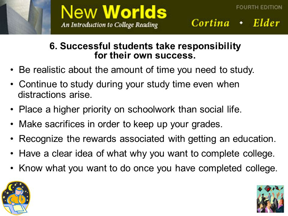 6. Successful students take responsibility