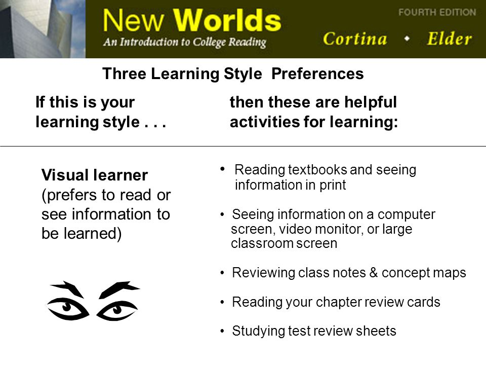 Three Learning Style Preferences