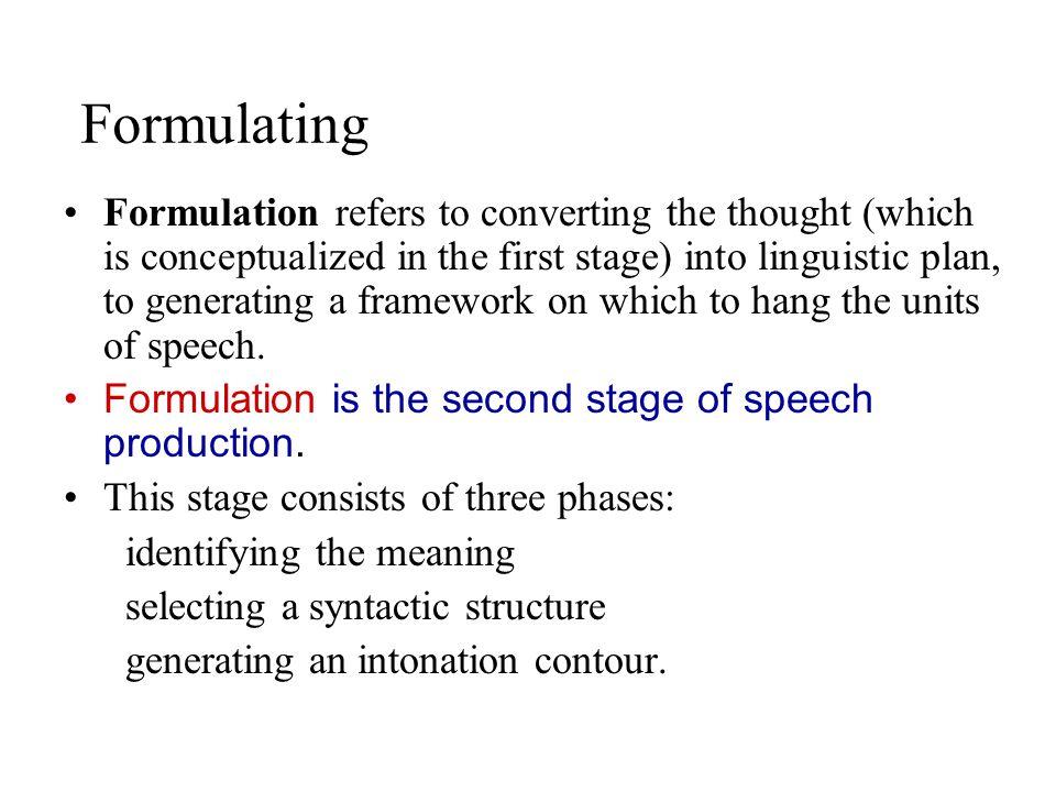 Formulating