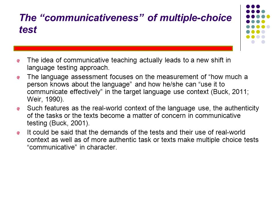 The communicativeness of multiple-choice test