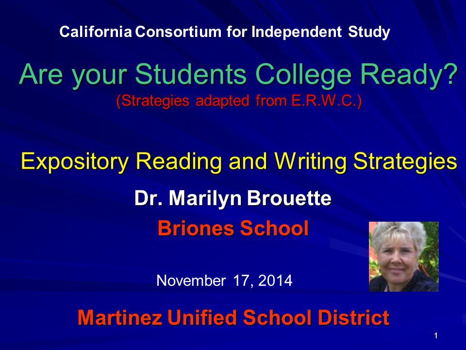 Dr. Marilyn Brouette Briones School Martinez Unified School District