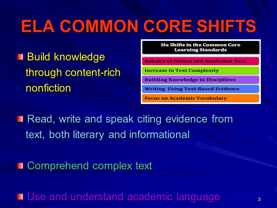 ELA COMMON CORE SHIFTS Build knowledge through content-rich nonfiction